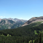 View of Maroon Bells from Washington Gulch Trail